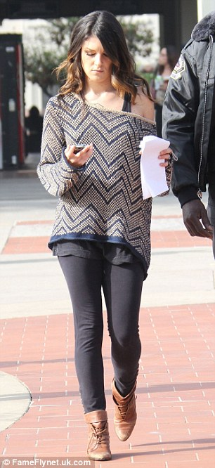 Co-stars: Jessica Lowndes and Shenae Grimes were also on set but dressed decidedly more casually in jeans and tops