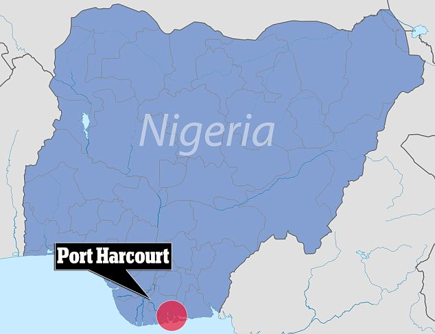 Oil country: The four young men were studying at the University of Port Harcourt. Aluu is nearby
