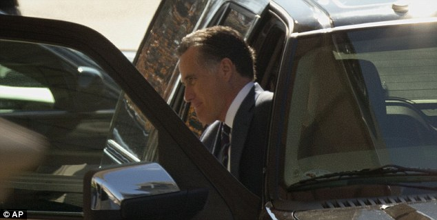 Arrival: Former Republican presidential candidate Mitt Romney arrived at the White House for a lunch with President Obama
