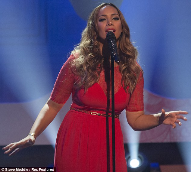 Not her best look: On Thursday Leona Lewis wore a rather unflattering red dress as she took to the spotlight for a performance on Loose Women