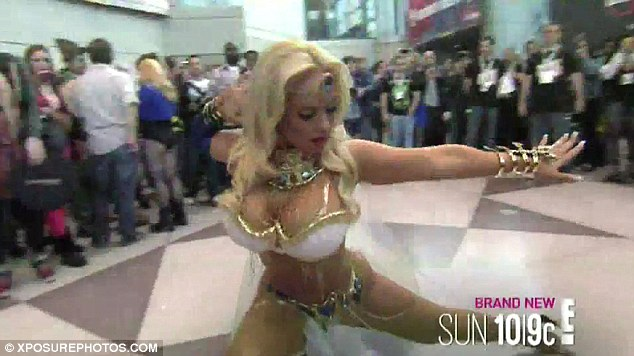 Reality show: Coco was shooting scenes for Ice Loves Coco while she attended the comic convention