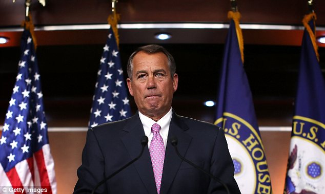Counterattack: John Boehner claimed that the Democrats had not yet offered a credible deficit deal