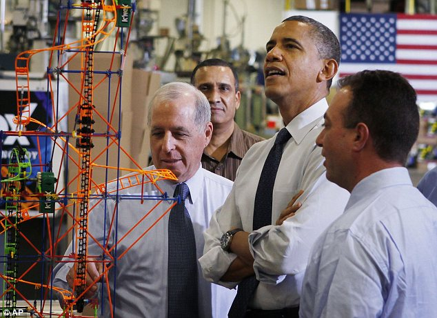 Making a list: Obama promised to give K'nex to members of Congress who co-operate with the White House