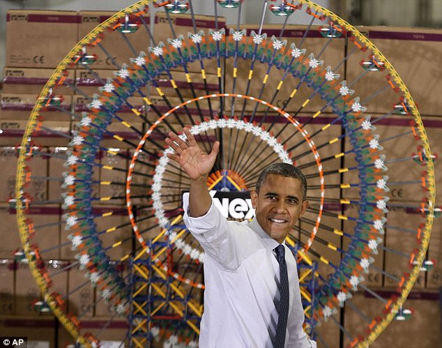 Appeal: Barack Obama went to a K'nex factory in the Philadelphia suburbs as part of a national tour