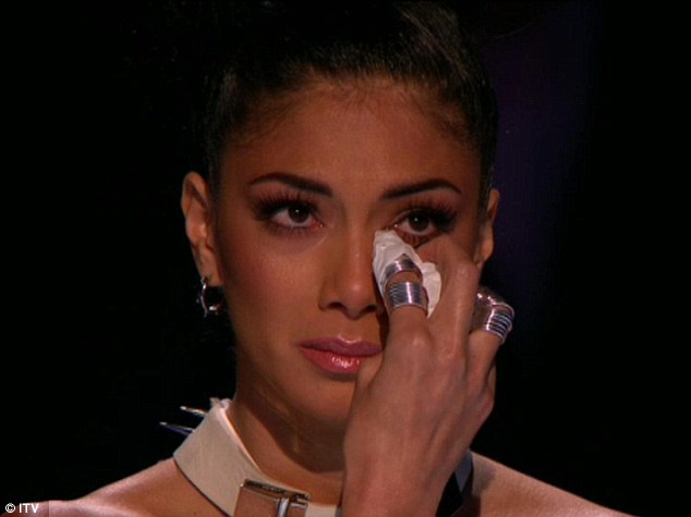 Emotional evening: Nicole clearly has a strong connection with Jahmene and broke down during his version of I Look To You