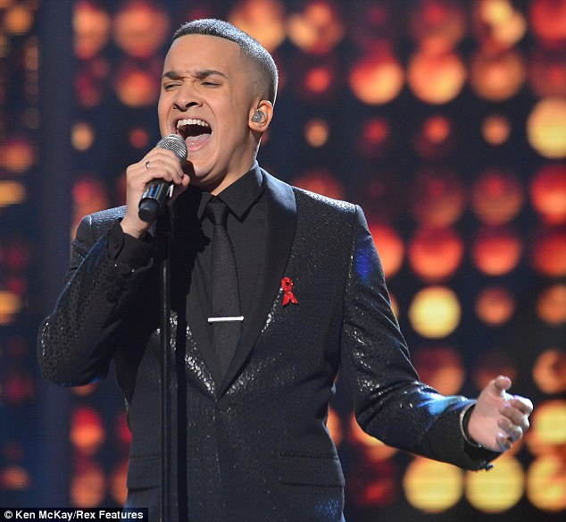 Belting his heart out: The star gave it his all as he tried to convince the audience he deserves to be in the final