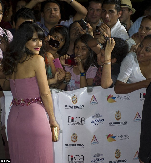 Sea of fans: The Mexican actress takes time to meet her fans in her home country