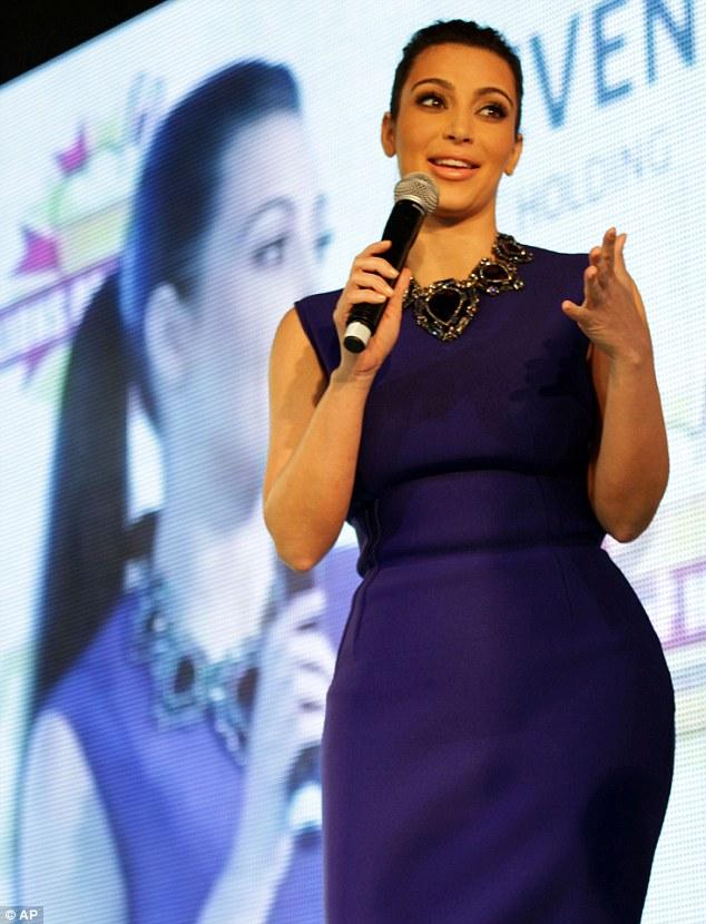 Globetrotting: Miss Kardashian speaks to fans in Riffa, Bahrain today