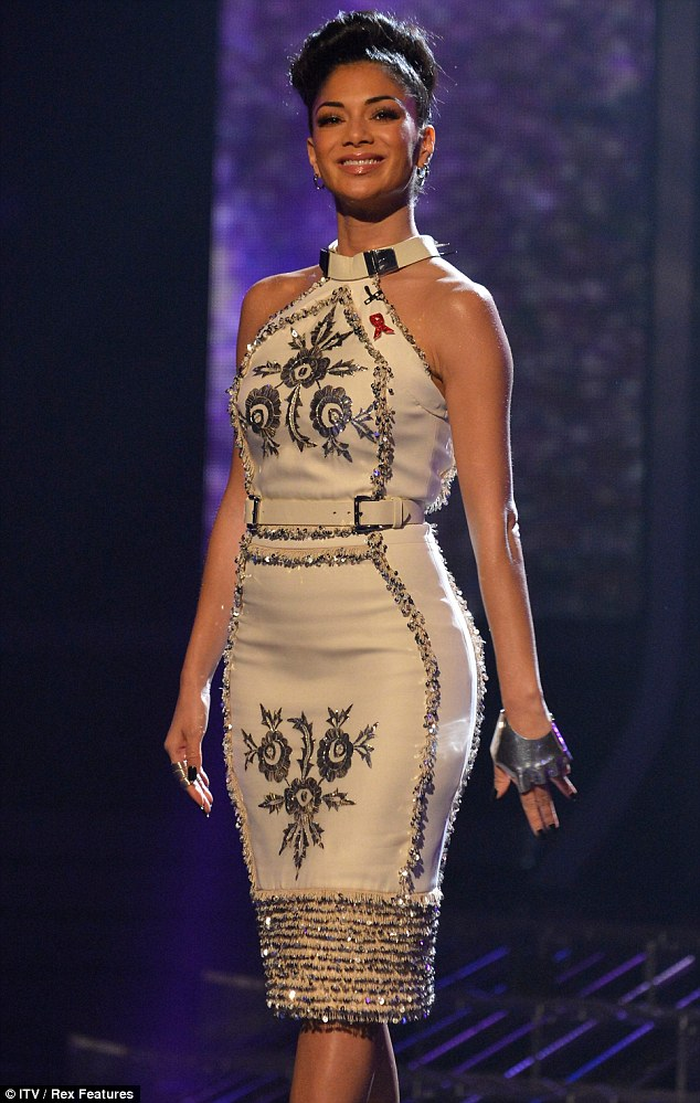 Fighting for first place: Nicole is hoping to see one of her acts triumph during the final of the show and was brought to tears by her contestant Jahmene Douglas on the show on Saturday night