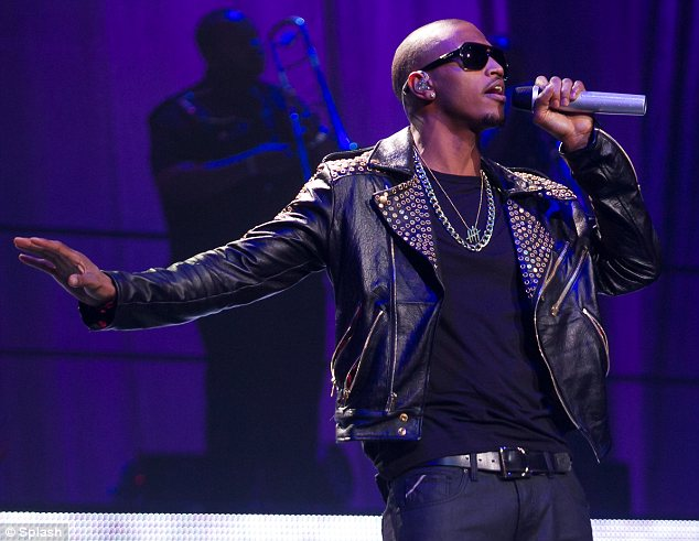 Row: The couple apparently argued on Friday night after Perkins attended a concert by Trey Songz, pictured