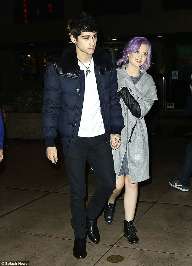 Perrie Edwards Showcases Her New Purple Rinse Hair Style