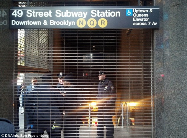 Fatal fall: A man was killed after being hit by a New York subway train today after it is believed he was pushed