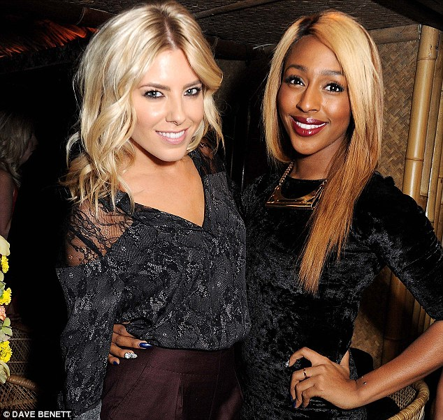 Battle of the blondes! Molie King and Alexandra Burke look pretty cosy as they celebrate the launch of Mahiki Coconut Rum
