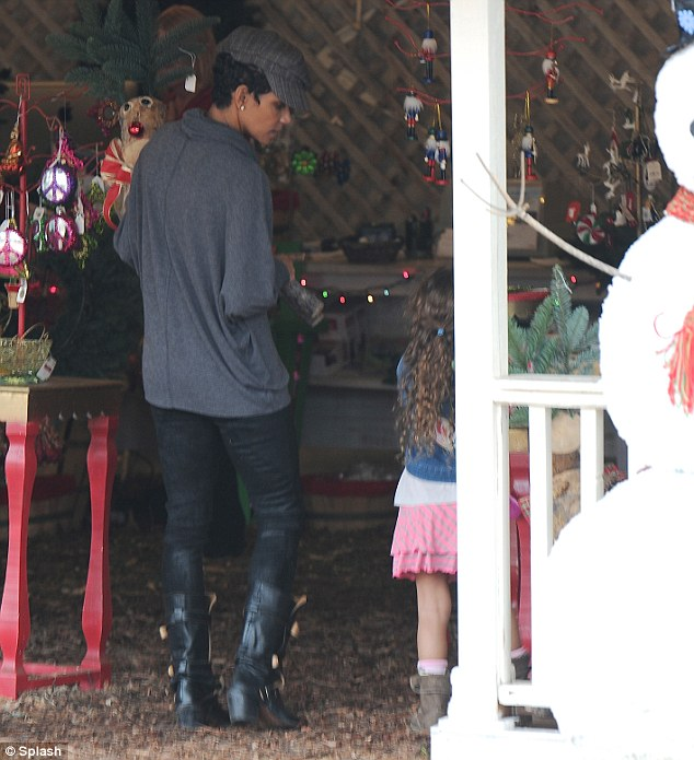 Difficult month: Not doubt the actress will be hoping for a merrier Christmas after her disastrous Thanksgiving Day which saw her fiance Olivier Martinez and ex Gabriel Aubry come to blows