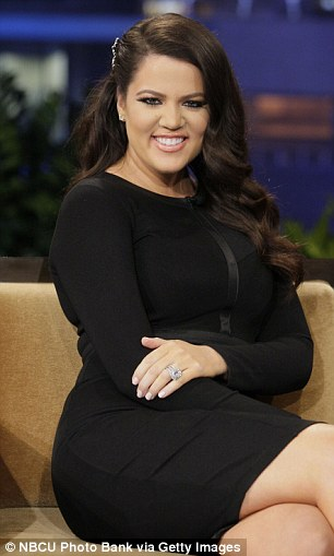 Lady in black: She wore the flattering outfit for the chat on The Tonight Show With Jay Leno, which was filmed on Tuesday night