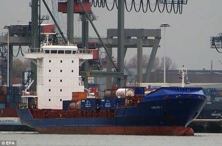 The condition of the Corvus J was unknown but it is understood the vessel was not in immediate danger following the incident. It is understood the 12-man crew were all still on board