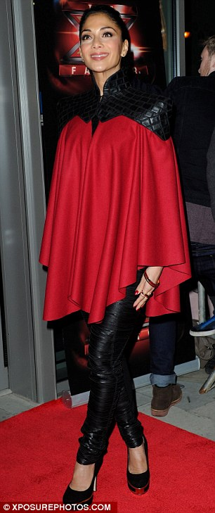 Caped crusader: Nicole is hoping to come to the rescue of her boys over the weekend, James Arthur is the bookies favourite