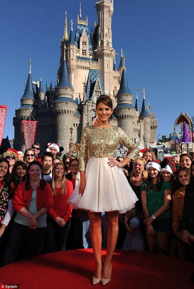 Here's Maria! The TV personality is co-hosting the Disney holiday special alongside Nick