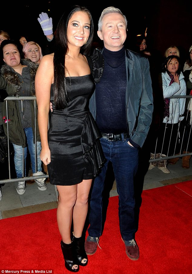 Firm friends: Tulisa and Louis were seen posing up together on the red carpet but while the Irishman wore a jumper Tulisa flashed her flesh in a skimpy outfit instead