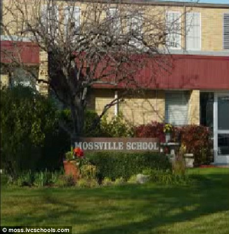 After hours: Police say that at least one of the sexual acts occurred on school grounds after hours but with a boy who was not a student of hers at the school, pictured