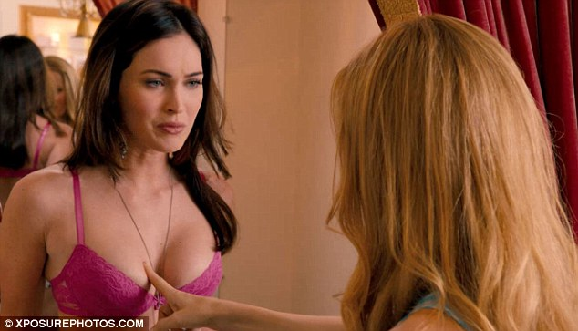 Still some treats to come: Megan strips down to her underwear in forthcoming comedy This is 40