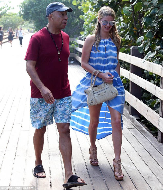 Fancy seeing you here! Russell appeared to bump into Nicky Hilton while on another stroll