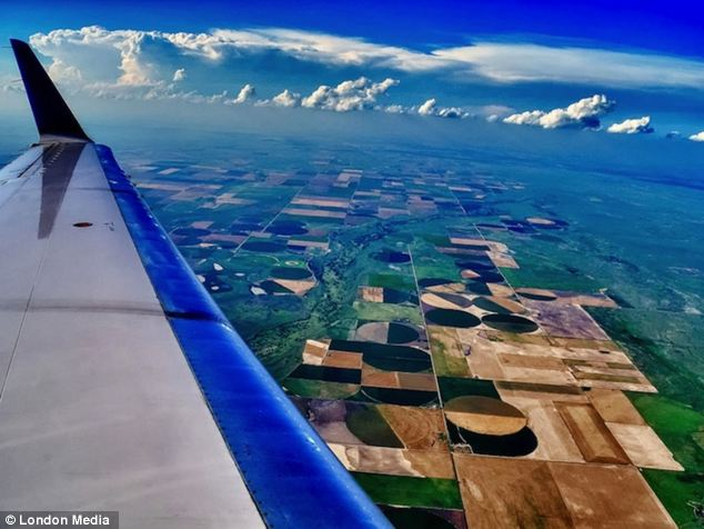 There's no place like home: Mark Shaiken took this vivid photo as he flew over Kansas