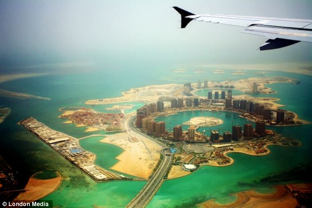 Sunny snap: A photo taken by traveller Charlie Gilbert over Doha, Qatar