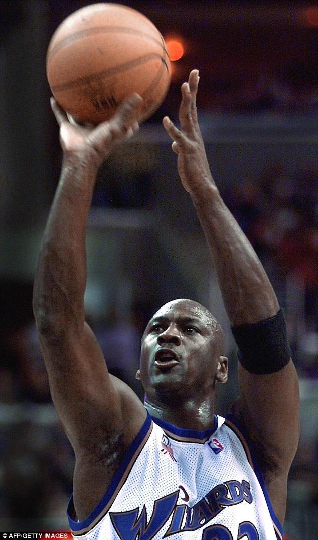 Iconic: Jordan is widely considered to the be the finest basketball player of the 20th century