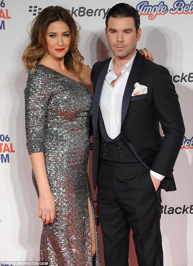 They should be on TV, not the radio: Lisa Snowdon and her co-presenter Dave Berry looked dapper on the red carpet
