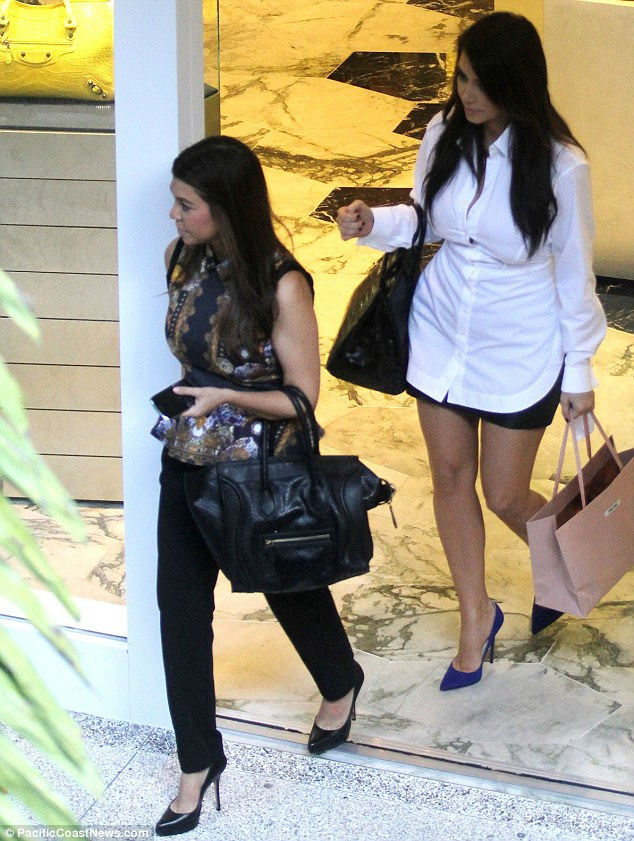 Not so lucky: Kourtney did not managed to find anything to buy during her sister's spending spree