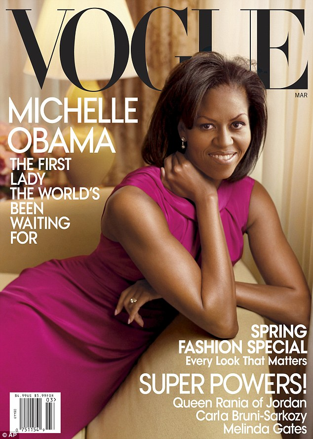 The 'Michelle Obama Edition', pictured, was the culmination of a year of hard work by hard-working Anna