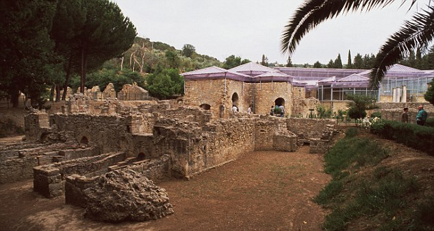 Amazing find: The Villa del Casale is home to the best preserved Roman mosaics on the planet  Read more: http://www.dailymail.co.uk/travel/article-2245378/Sicily-holidays-Italy-Racing-2000-years-ancient-history-classic-car.html#ixzz2EduYwCG3  Follow us: @MailOnline on Twitter | DailyMail on Facebook