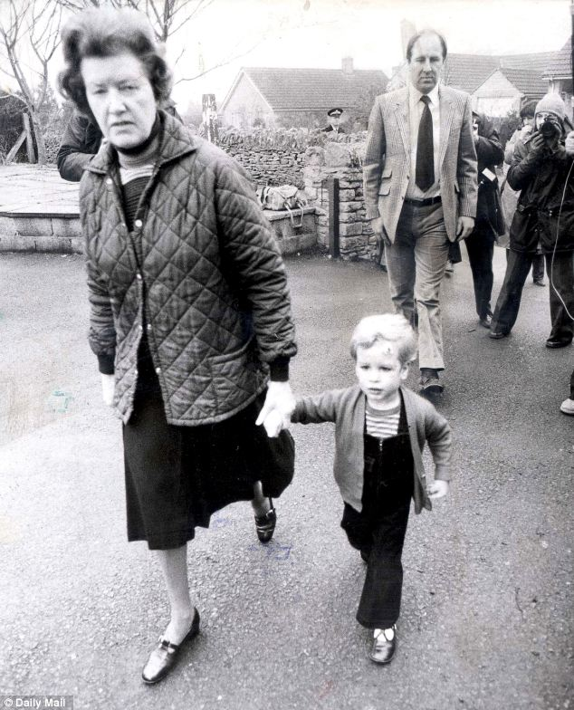 'Haven of security': Princess Anne's son, Peter Phillips, on his way to nursery school with his nanny, Mabel Anderson in 1980