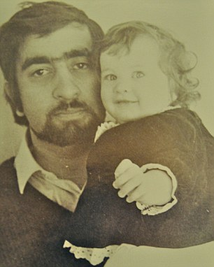 Tanith as a baby with her father Kim Mukerjee