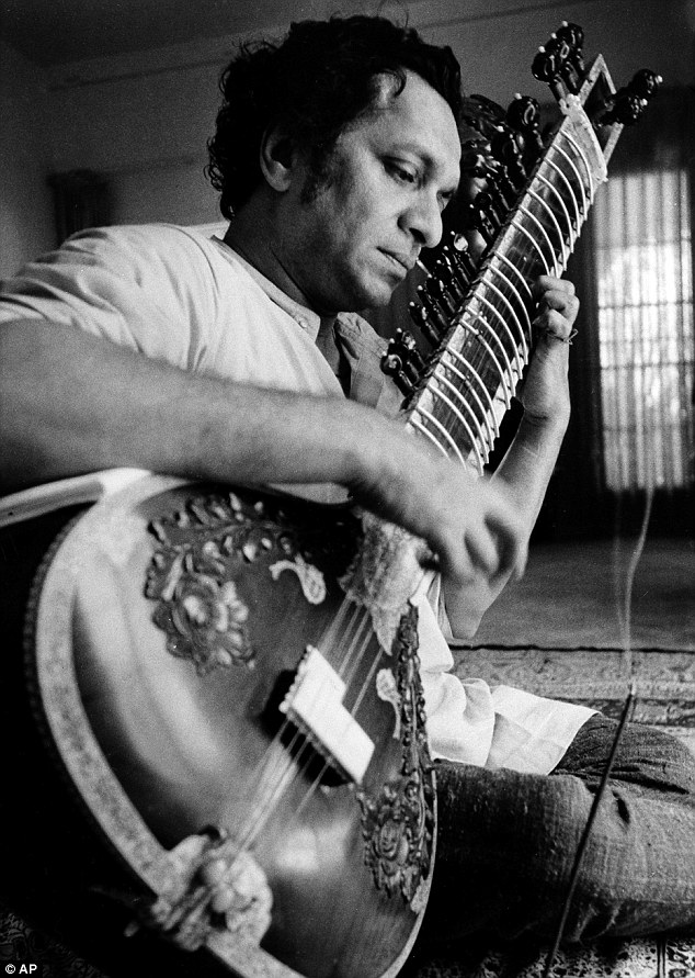 Ravi Shankar plays his sitar in Los Angeles. Shankar, the sitar virtuoso who became a hippie musical icon of the 1960s after hobnobbing with the Beatles and who introduced traditional Indian ragas to Western audiences over an eight-decade career