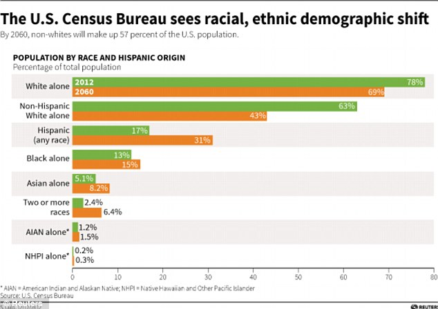 Image result for demographic trends in the united states race