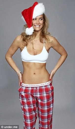 Bedtime stories: Bar modelled pyjamas from the range, too, and even donned a Santa hat