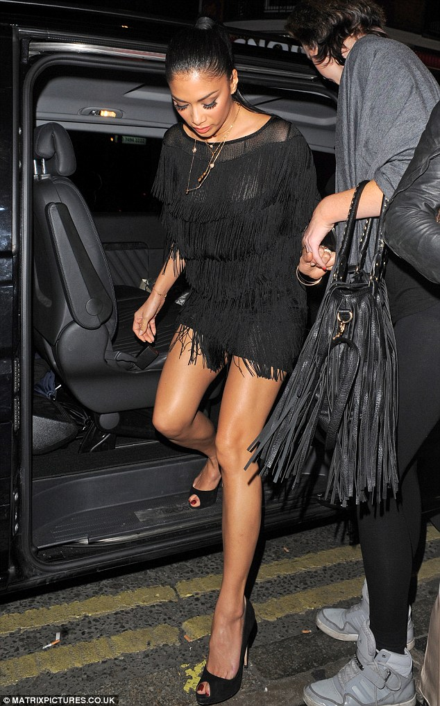Looking shamazing for sushi: Nicole Scherzinger was spotted at her favourite Japanese restaurant on Wednesday donning a little black dress