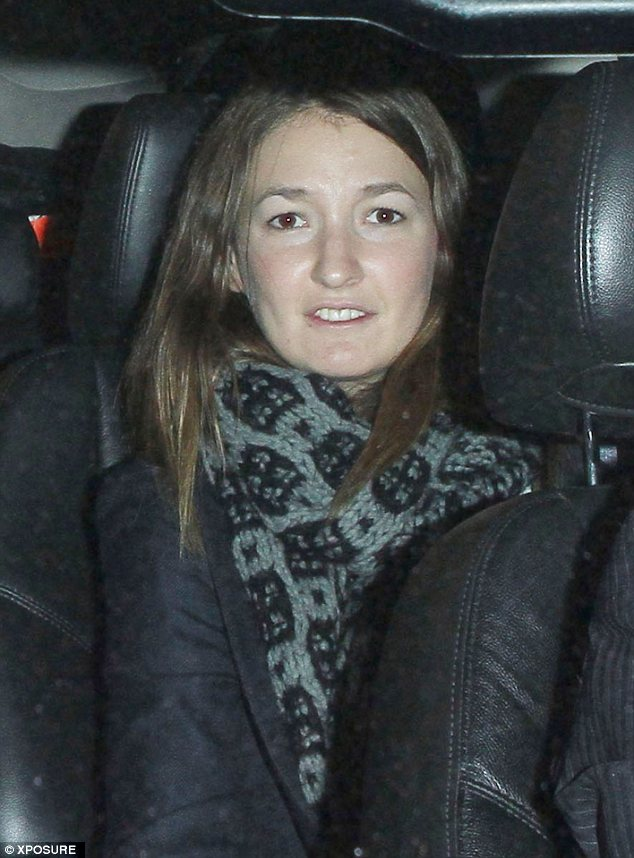 Jump in my car: Te mystery brunette gets in the same hired car as Seal