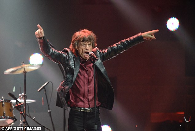 Satisfaction: Mick Jagger gave an energetic performance with The Rolling Stones
