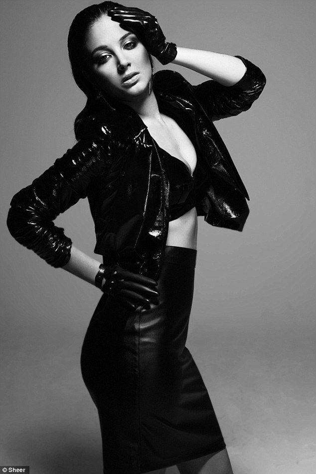 Smouldering: Tulisa shows off her dark side in the glossy magazine shoot
