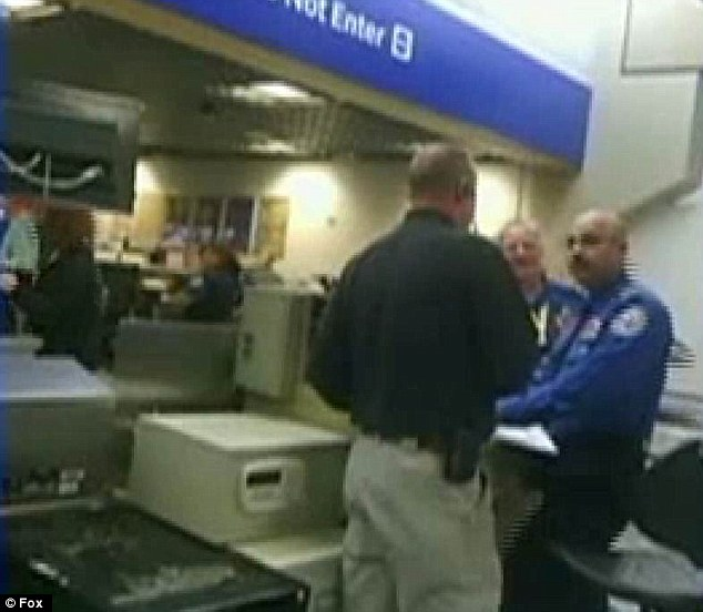 Bizarre: They had to wait for an hour in front of hundreds of travellers while the TSA called a bomb expert