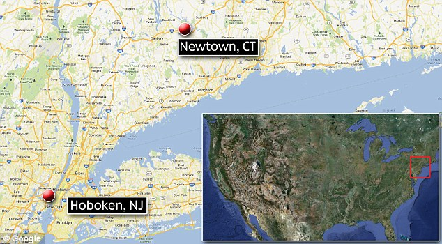 Sandy Hook Elementary School is in Newtown, Connecticut, where Nancy Lanza lived. Son Ryan lives in Hoboken, New Jersey