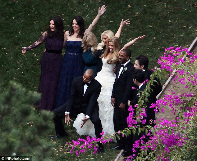 Say cheese: Jessica Simpson's best friend Cacee Cobb married her long time beau Donald Faison in Los Angeles on Saturday