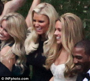Congrats, girlfriend! Jessica was all smiles at her best friend Cacee's wedding