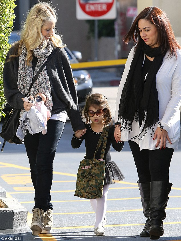 Little ballerina: Sarah Michelle Gellar enjoyed some mother-daughter time with Charlotte, three, on Saturday when she got to take her to ballet class