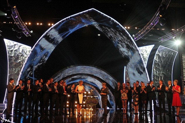 Celebrating achievements: Katherine Grainger (centre left) on stage with Clare Balding (centre right) and the Team GB Rowers during the BBC Sports Personality of the Year Awards