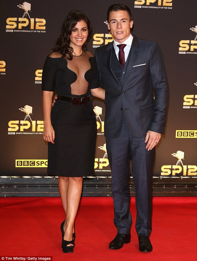 Happily married: Singer Katie Melua went for a risque frock as she joined husband, superbike champion James Toseland, who she married in August