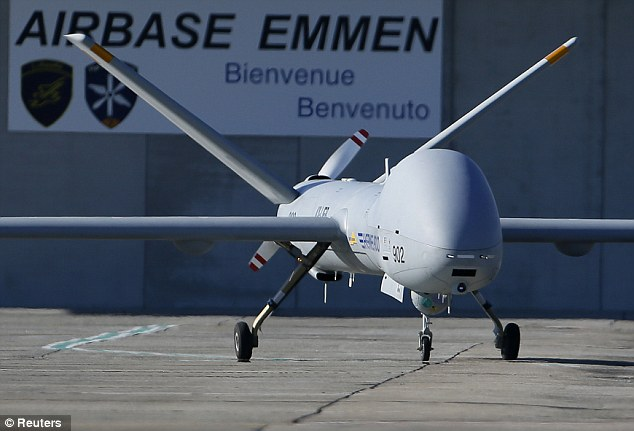 Drones: Bryant worked as a sensor operator, the equivalent of a drone co-pilot (stock photo)